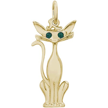 14k Gold Siamese Cat Charm by Rembrandt Charms