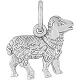 14K White Gold Sheep Charm by Rembrandt Charms