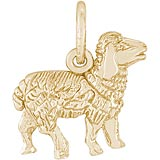 Gold Plate Sheep Charm by Rembrandt Charms