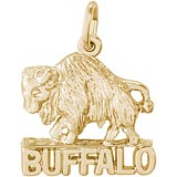 Gold Plated Buffalo Charm by Rembrandt Charms
