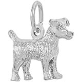 14k White Gold Jack Terrier Charm by Rembrandt Charms