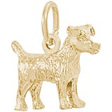 Gold Plated Jack Terrier Charm by Rembrandt Charms