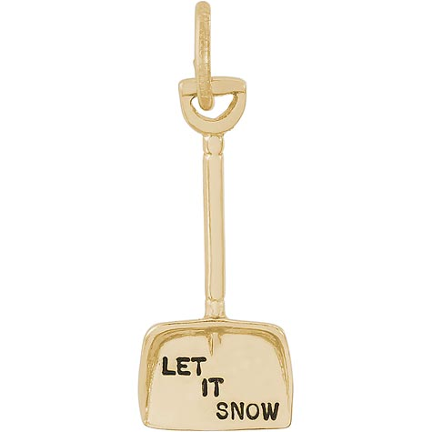 14K Gold Snow Shovel Charm by Rembrandt Charms