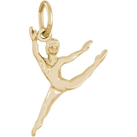 14K Gold Ballet Dancer Charm by Rembrandt Charms