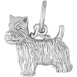 14K White Gold West Highland Terrier Charm by Rembrandt Charms