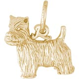 Gold Plated West Highland Terrier Charm by Rembrandt Charms