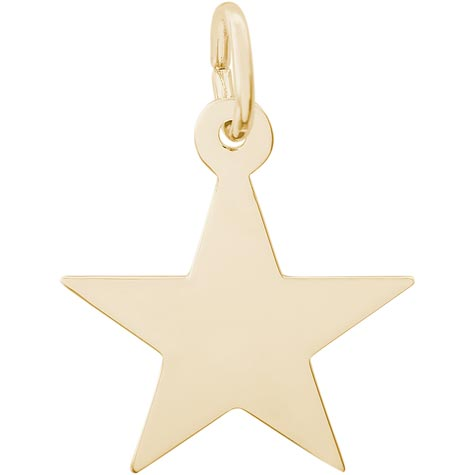 14K Gold Classic Star Charm by Rembrandt Charms