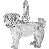 Sterling Silver Pug Dog Charm by Rembrandt Charms