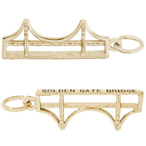 14K Gold Golden Gate Bridge Charm by Rembrandt Charms