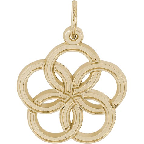 14K Gold The 12 Days of Christmas Day 5 by Rembrandt Charms