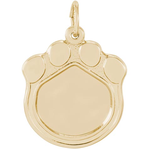 14K Gold Pet Paw Print PhotoArt® Charm by Rembrandt Charms