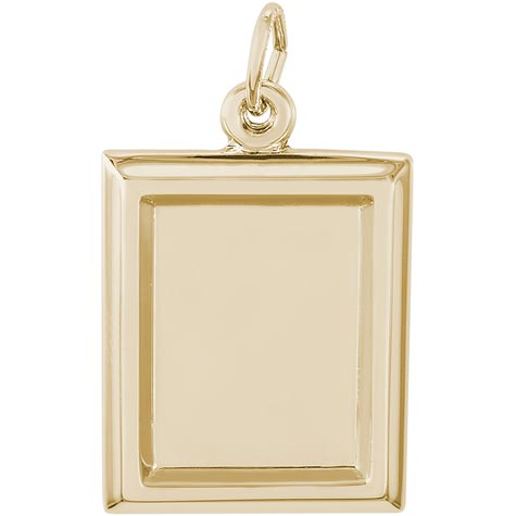 14K Gold Small Rectangle PhotoArt® Charm by Rembrandt Charms