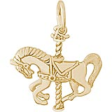 14K Gold Carousel Horse Charm by Rembrandt Charms