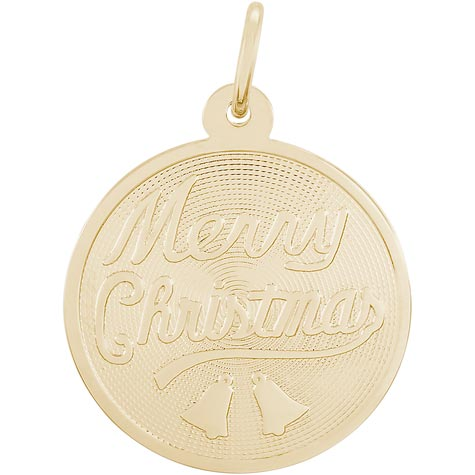 14K Gold Merry Christmas Charm by Rembrandt Charms