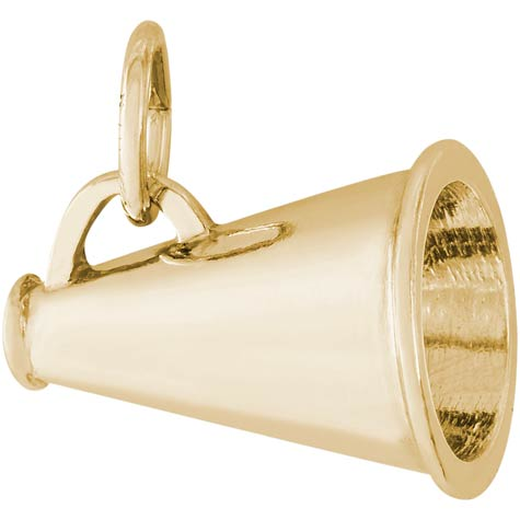 Gold Plate Cheerleader Megaphone by Rembrandt Charms