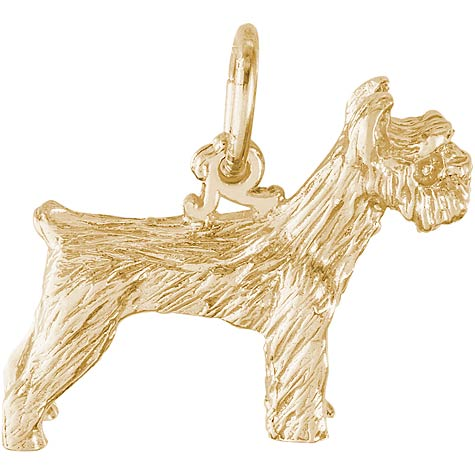 10K Gold Schnauzer Dog Charm by Rembrandt Charms