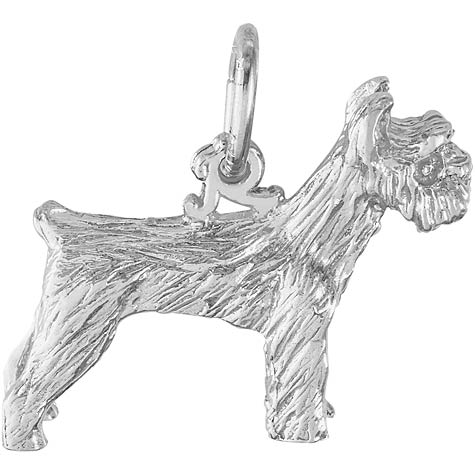 14K White Gold Schnauzer Dog Charm by Rembrandt Charms