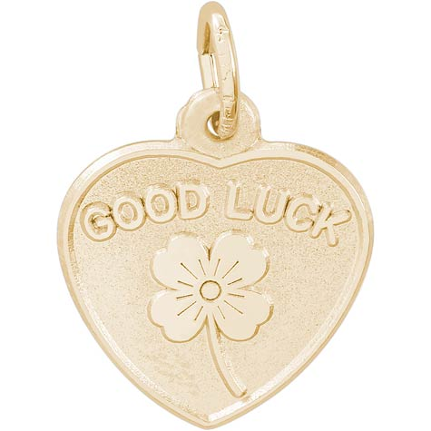 14K Gold Good Luck Heart Charm by Rembrandt Charms