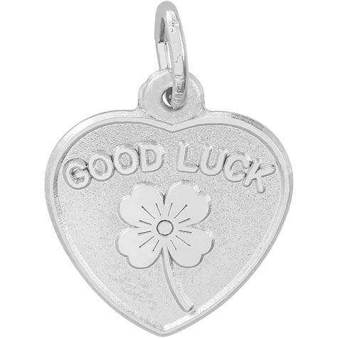Sterling Silver Good Luck Heart Charm by Rembrandt Charms