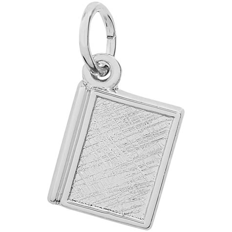 14K White Gold Book Charm by Rembrandt Charms