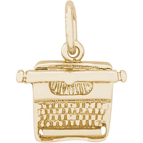 14k Gold Typewriter Charm by Rembrandt Charms