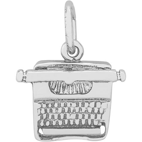 Sterling Silver Typewriter Charm by Rembrandt Charms