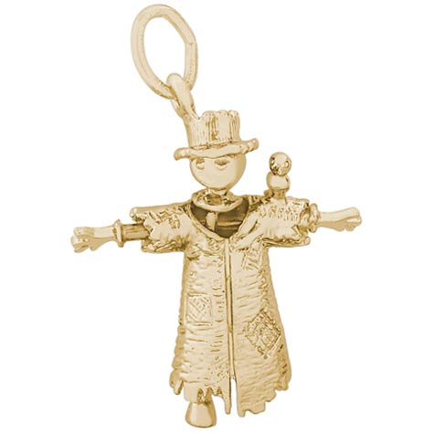 10K Gold Scarecrow Charm by Rembrandt Charms