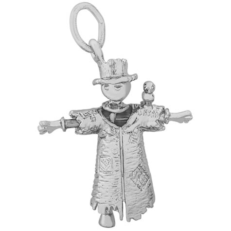 14K White Gold Scarecrow Charm by Rembrandt Charms