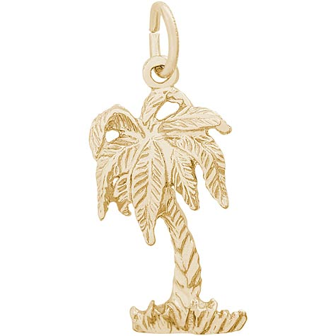14K Gold Palm Tree Charm by Rembrandt Charms