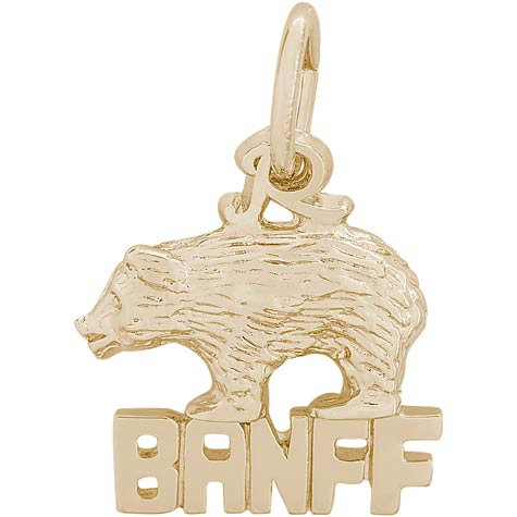 14K Gold Banff Bear Charm by Rembrandt Charms