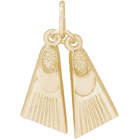 14K Gold Swim Fins Charm by Rembrandt Charms