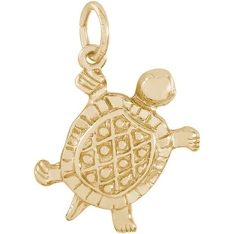 Gold Plate Turtle Charm by Rembrandt Charms