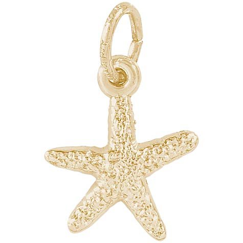 10K Gold Starfish Accent Charm by Rembrandt Charms