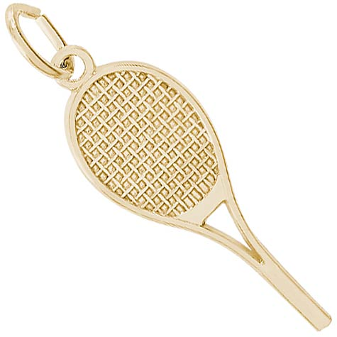 14K Gold Tennis Racquet Charm by Rembrandt Charms