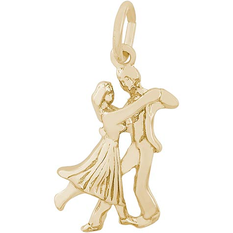 Gold Plate Dancers Charm by Rembrandt Charms