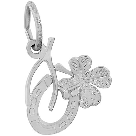 14K White Gold Symbols of Luck Charm by Rembrandt Charms