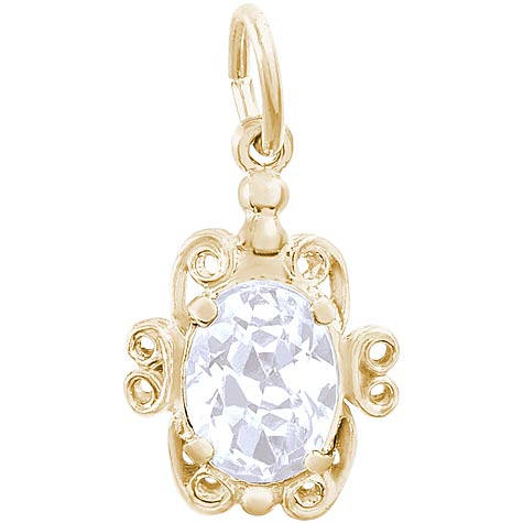 14k Gold 04 April Filigree Charm by Rembrandt Charms