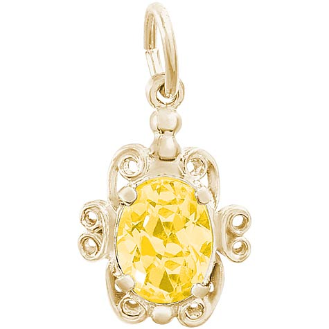 14K Gold 11 November Filigree Charm by Rembrandt Charms