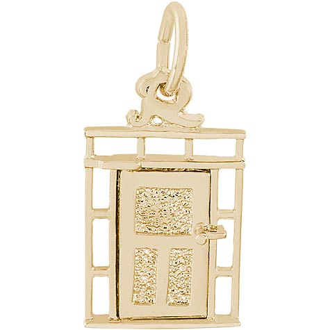 14K Gold Front Door Charm by Rembrandt Charms