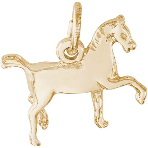 10K Gold Extended Trot Horse Charm by Rembrandt Charms