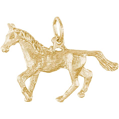 Gold Plate Trotting Horse Charm by Rembrandt Charms