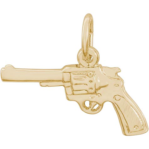 Gold Plate Revolver Charm by Rembrandt Charms