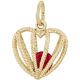 14K Gold Embrace Love Charm 01 January by Rembrandt Charms