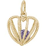 14k Gold Embrace Love Charm 06 June by Rembrandt Charms
