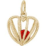 14K Gold Embrace Love Charm 07 July by Rembrandt Charms