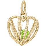 14K Gold Embrace Love Charm 08 August by Rembrandt Charms