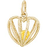14K Gold Embrace Love Charm 11 November by Rembrandt Charms