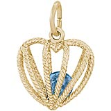 14K Gold Embrace Love Charm 12 December by Rembrandt Charms