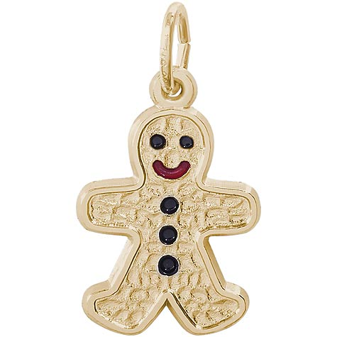14K Gold Gingerbread Man Charm by Rembrandt Charms