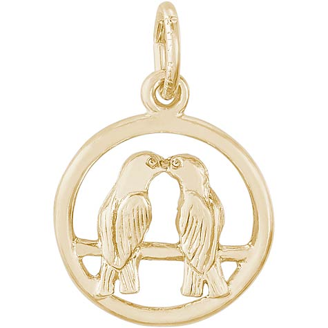 14K Gold Love Birds Charm by Rembrandt Charms